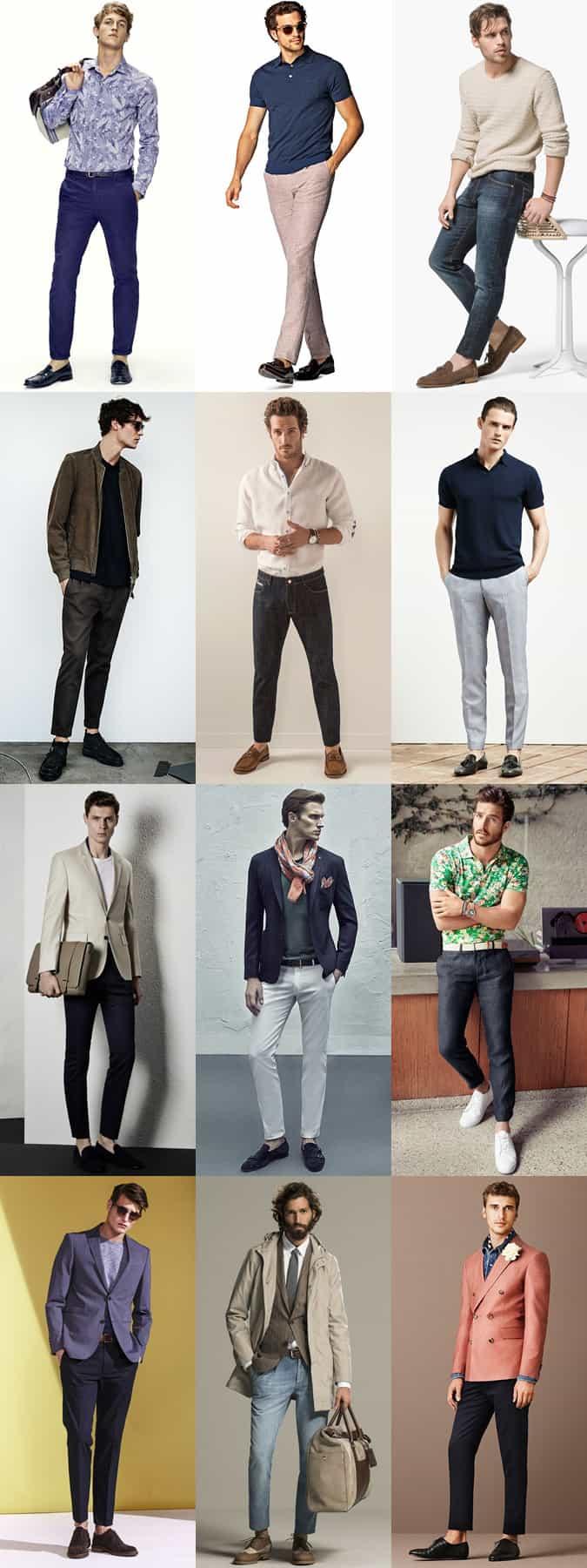 Tenues sans chaussettes pour hommes - Jeans, pantalons chino et pantalons slim et fuselés