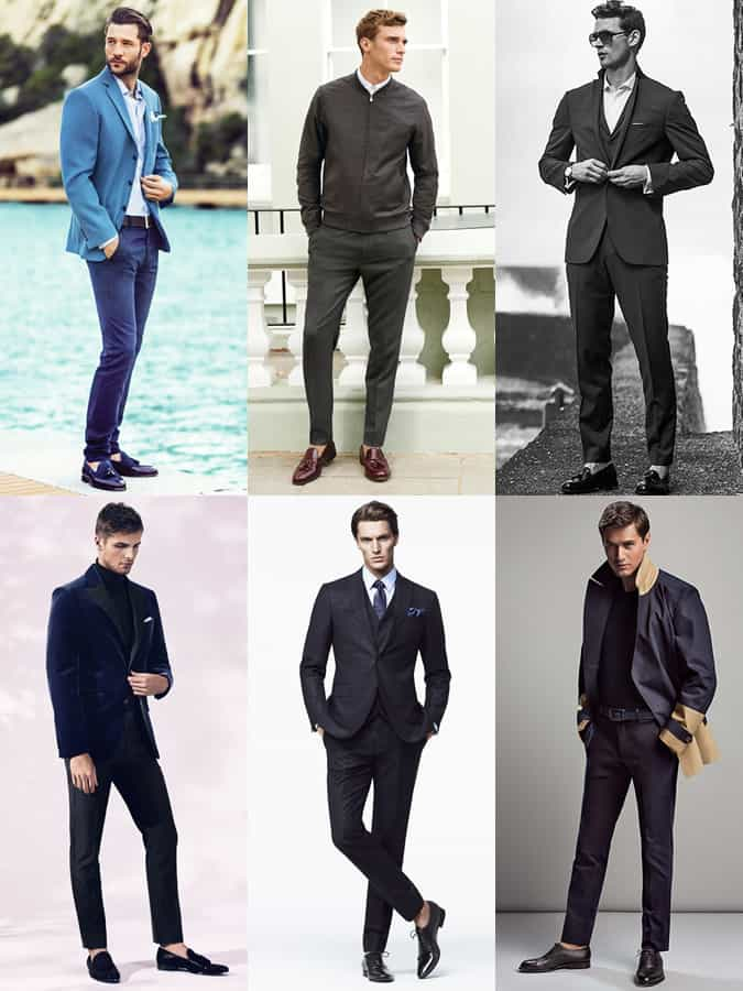 Men's Sockless Looks With A Minimal Trouser Break Outfit Inspiration Lookbook