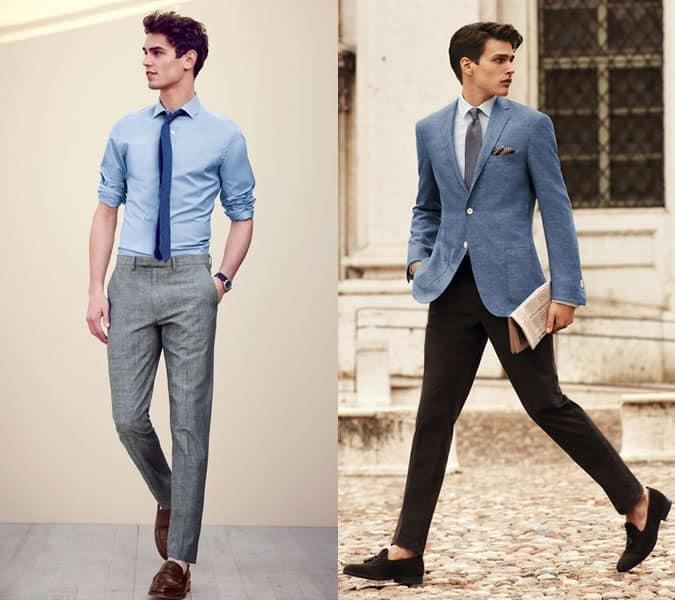 Lookbook d'inspiration pour tenue formelle sans chaussettes pour homme
