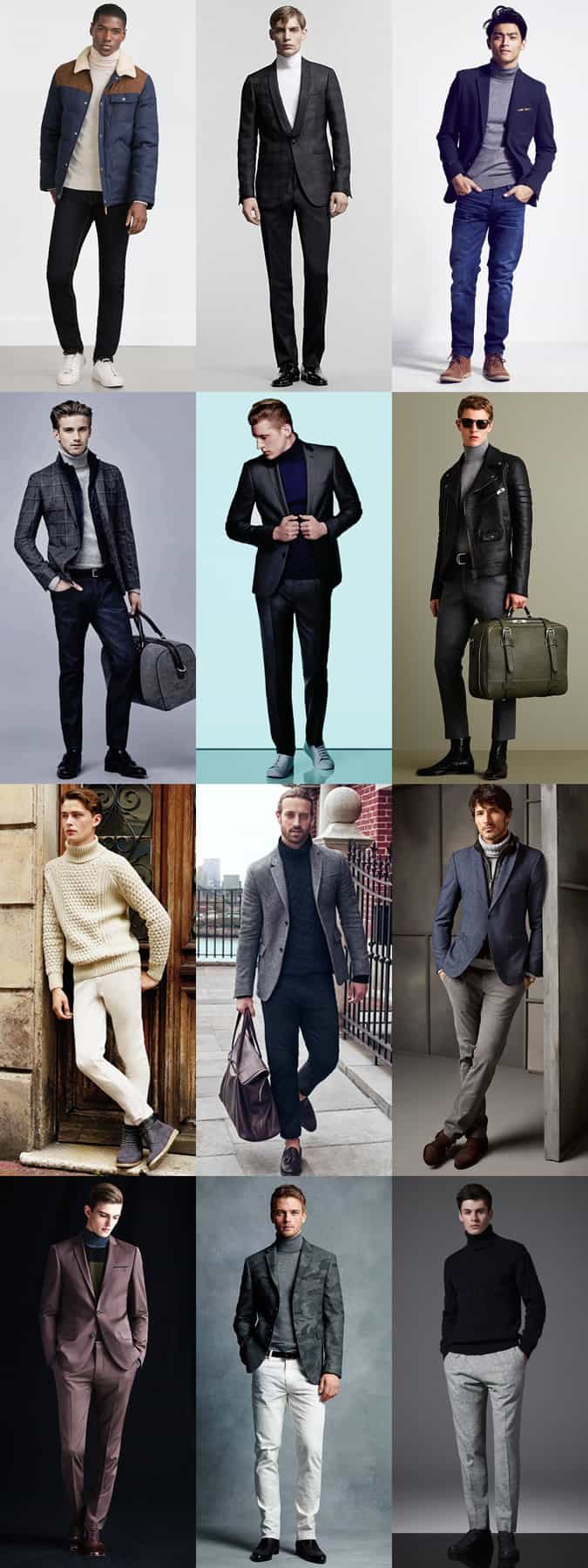 Men's Roll Neck Outfit Inspiration Lookbook