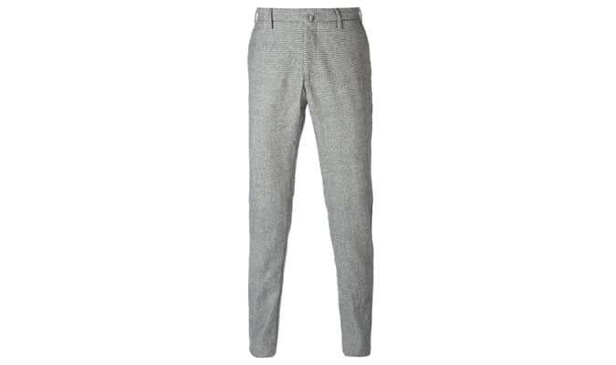 Pantalon slim en pied-de-poule Incotex