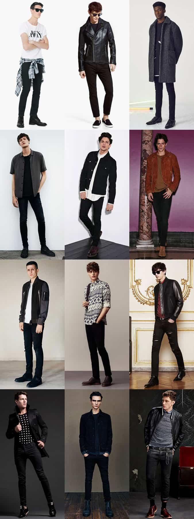 Lookbook Inspiration pour Black Jeans Outfit pour homme