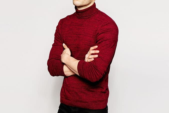 ASOS Roll Neck Jumper in Twisted Yarn