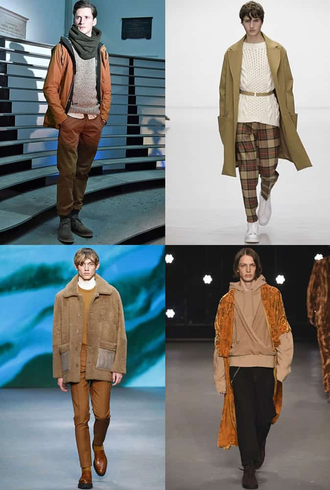 Earth Tones on The AW16 London Collections Men Runways