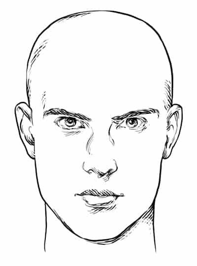 Rectangle/Oblong Face Shape - Men