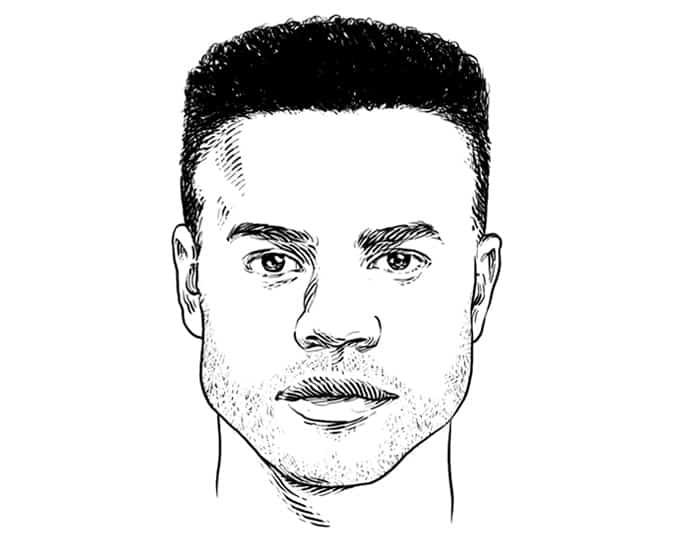 Coiffure / coupe de cheveux parfaite pour une forme de visage carré