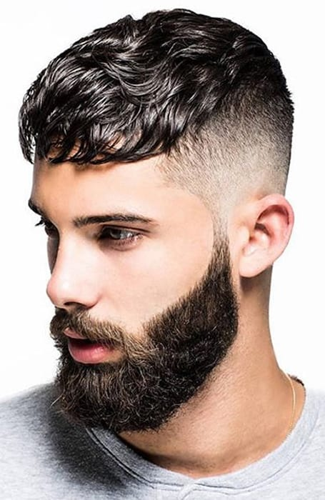Men's Mid Fade With Textured Top