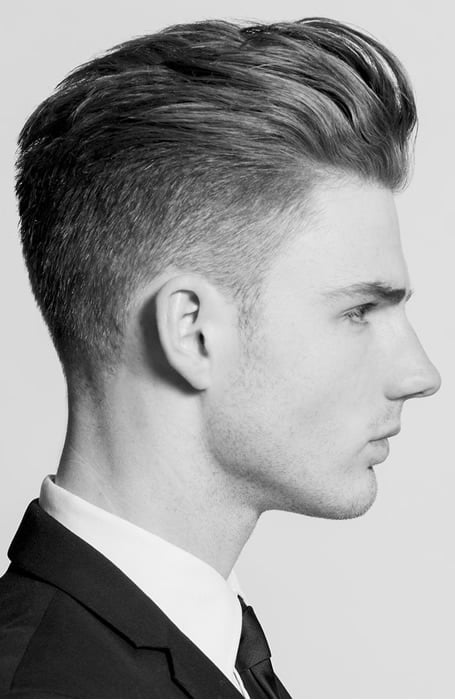 Men's Tapered Fade With Textured Quiff