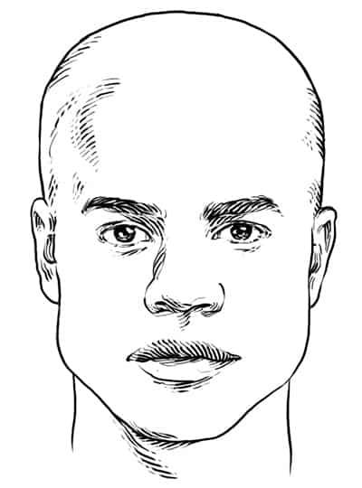 Square Face Shape - Men