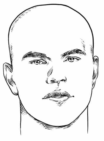 Round Face Shape - Men