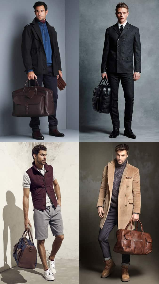 Men's Utility Holdalls Outfit Inspiration Lookbook 2017 Bag Trends