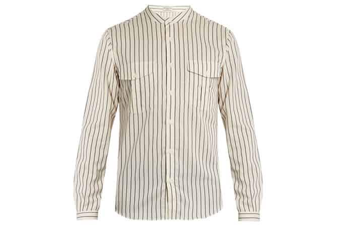 Editions Mandarin Collar Shirt