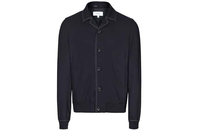 Reiss Yuri Cuban Collar Jacket