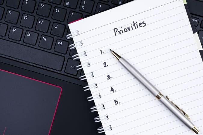 10 Habits of Successful People - Priorities
