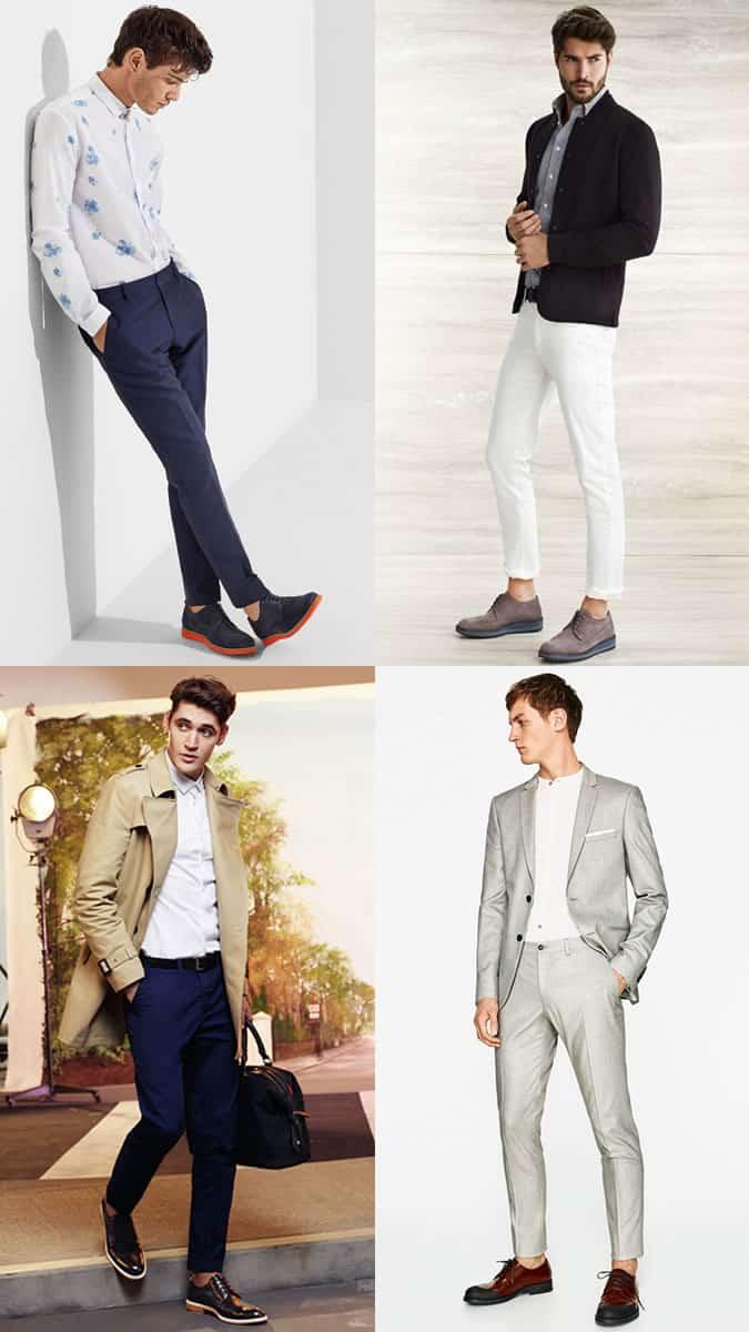 Chaussures élégantes pour hommes avec détails sportifs / modernes et semelles