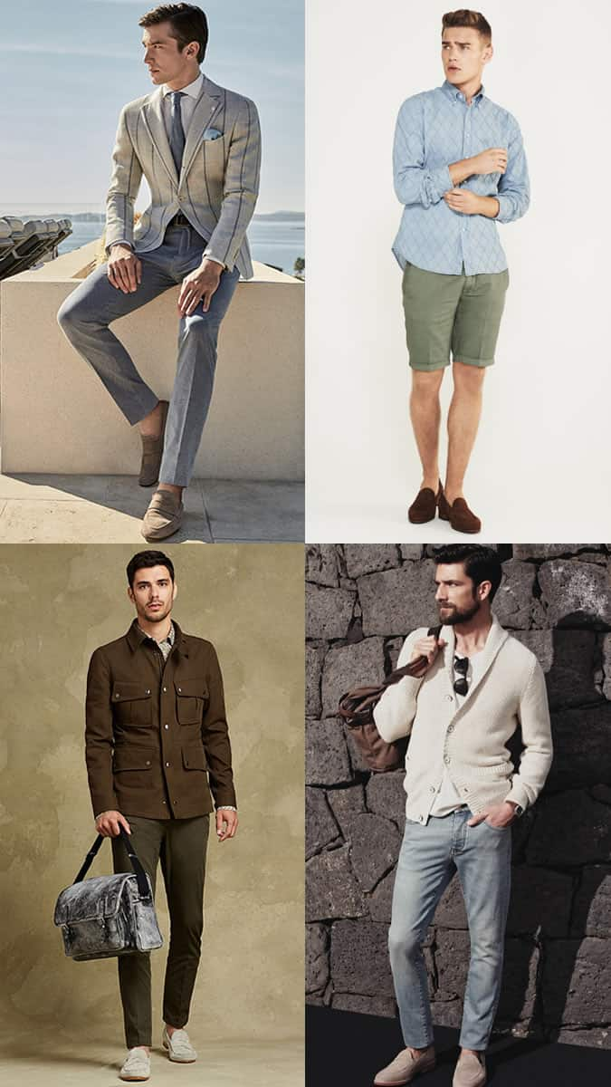 Men's Summer Penny Loafers Outfit Inspiration Lookbook