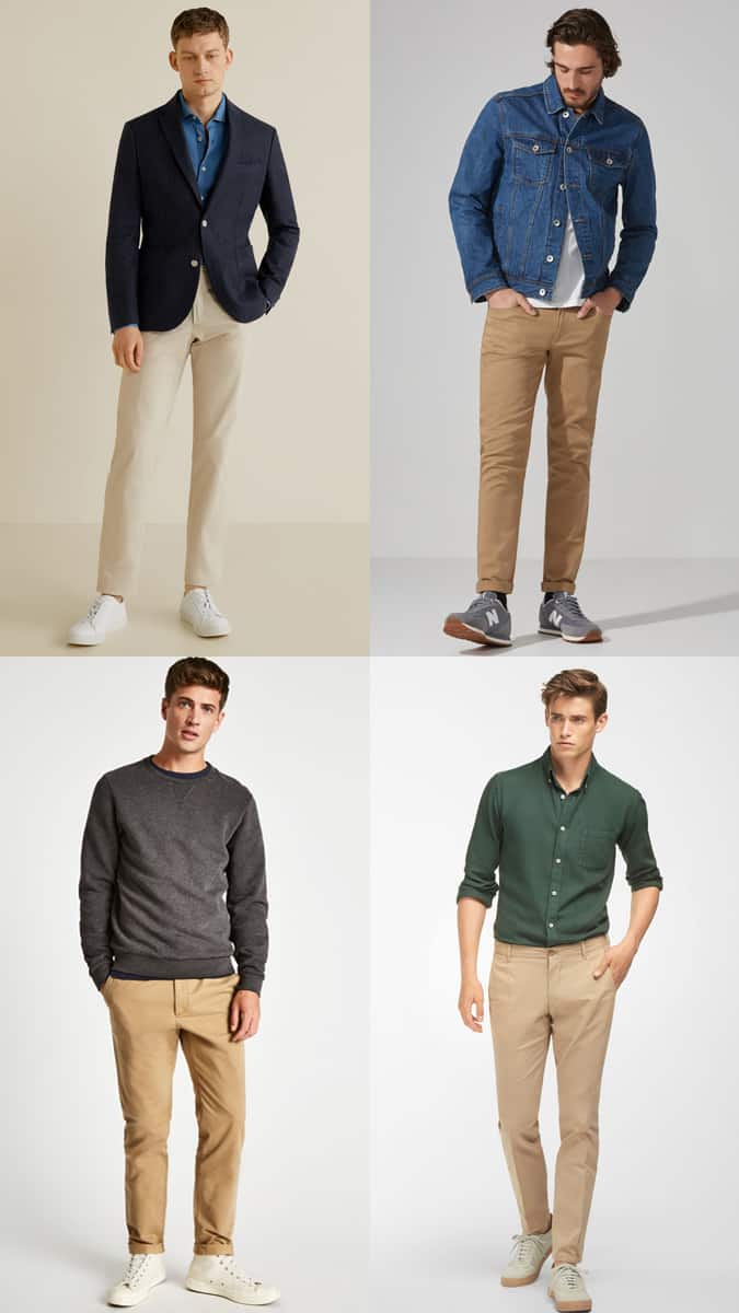 Lookbook d'inspiration chino beige pour homme