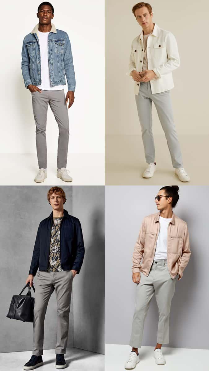 Lookbook Inspiration pour pantalon chino gris pour homme