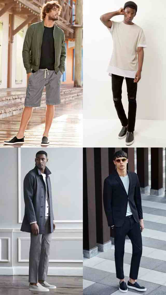 Men's Slip-On Sneakers/Trainers Summer Outfit Inspiration Lookbook