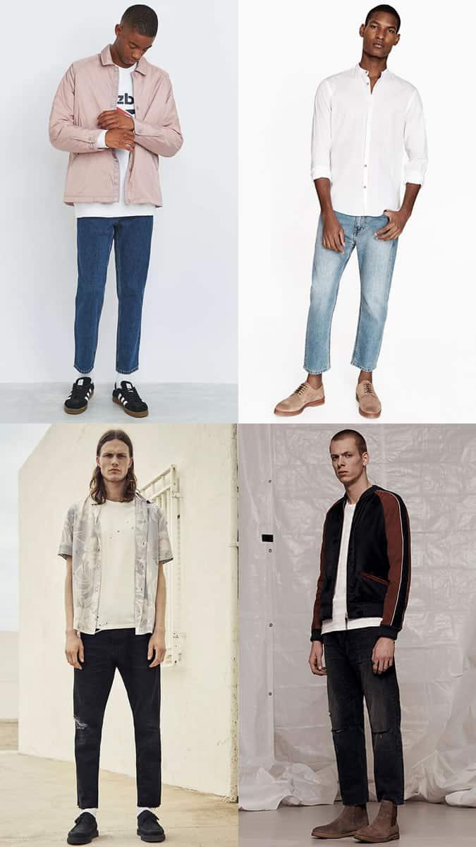 Lookbook d'inspiration décontracté pour jeans raccourcis pour homme