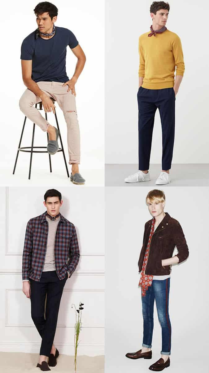 Foulards et écharpes d'été pour homme Look Inspiration Lookbook