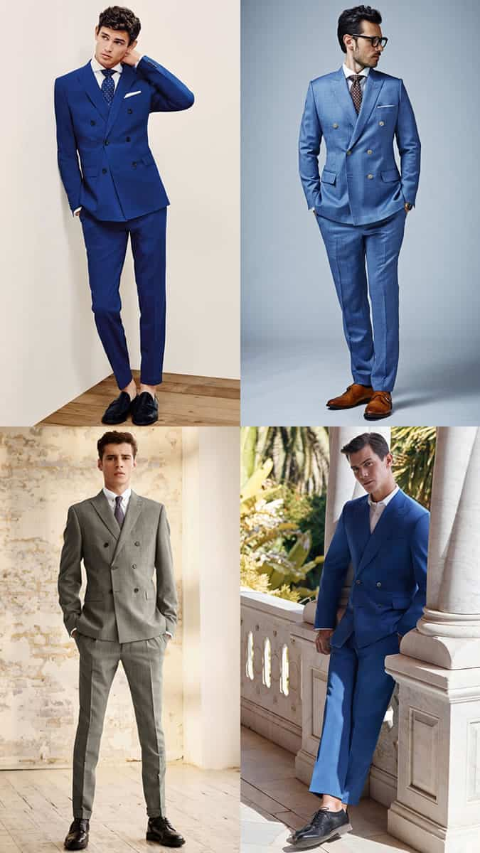 Men's Double-Breasted Suits Spring/Summer Wedding Guest Outfit Inspiration