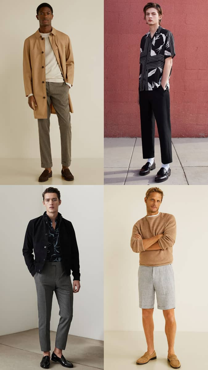 Look Penny Loafers Mode & Style Inspiration Lookbook pour homme
