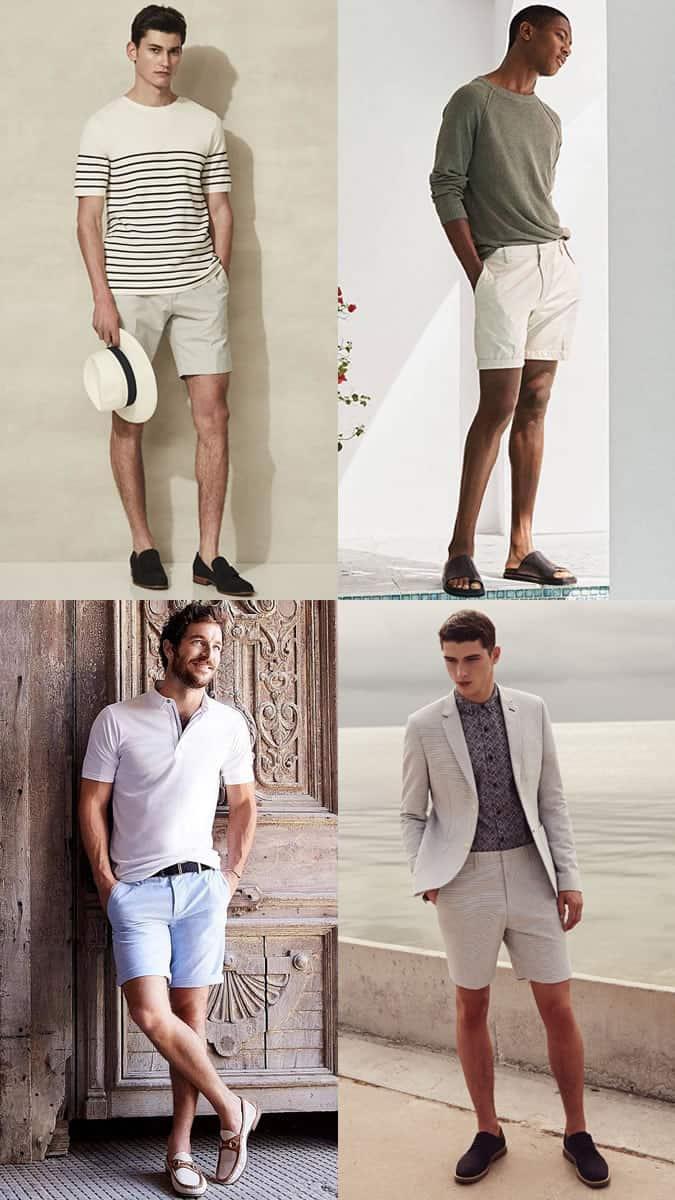 Combinaisons de shorts sur mesure et de chaussures intelligentes pour l'été