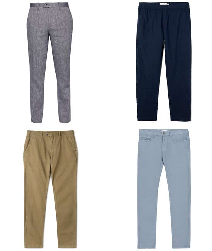 le meilleur pantalon en lin pour hommes