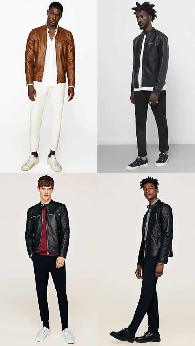 how to wear leather racer jackets