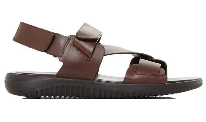 Sandale épaisse en cuir