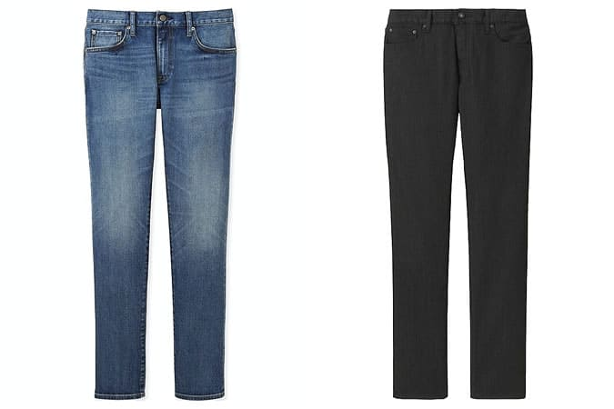 Jeans Uniqlo Selvedge & Miracle Air pour homme