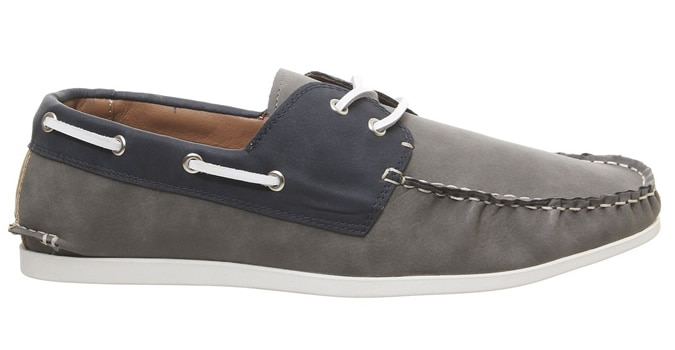 Office Floats Your Boat Chaussures Gris Marine