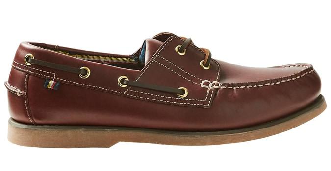M&S COLLECTION Chaussures bateau à lacets en cuir avec Freshfeet ™