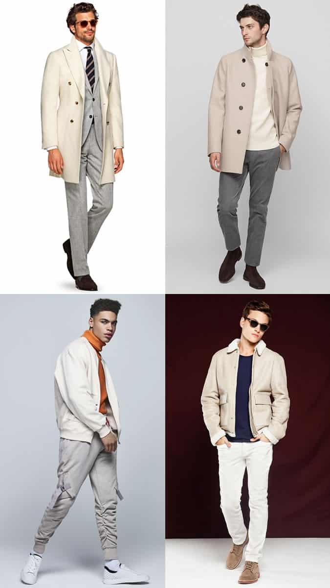 Comment les hommes devraient porter des vêtements blancs en hiver