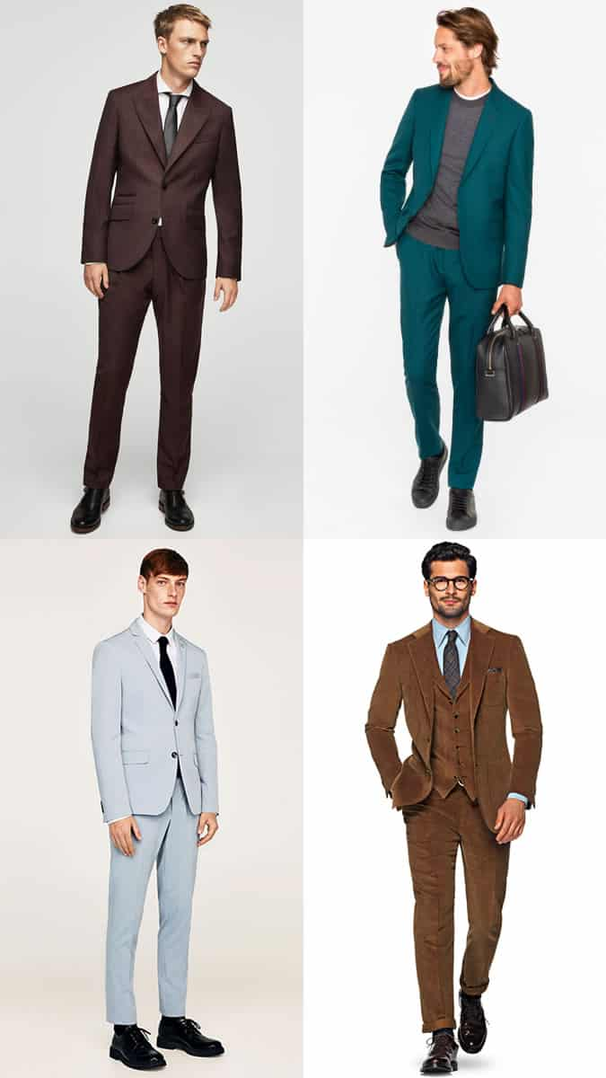 How to wear men's colourful suits