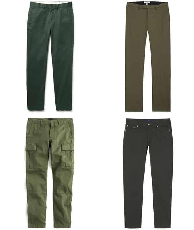 le meilleur pantalon vert pour homme