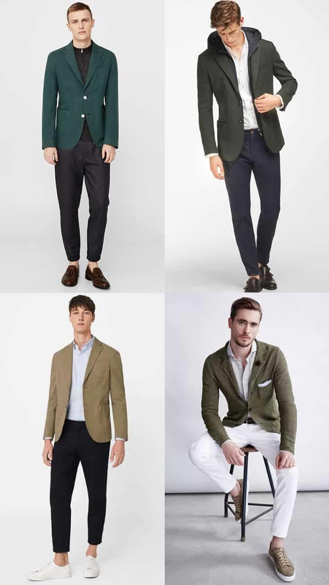 comment porter un blazer vert