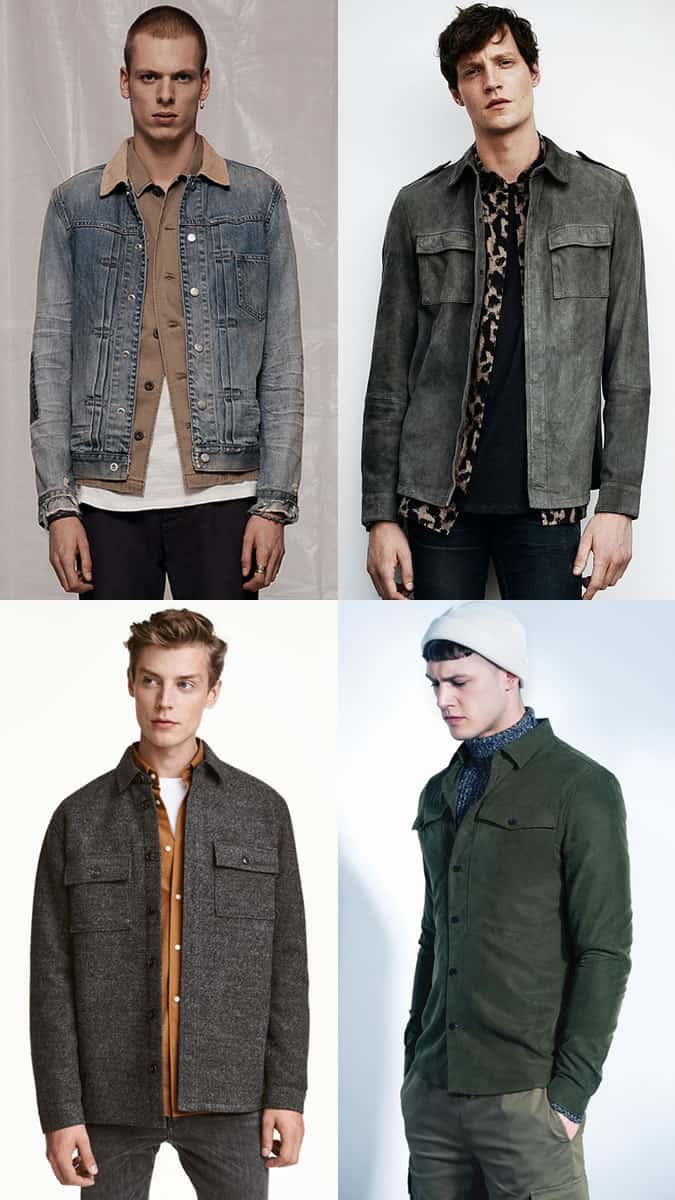 How to wear a shacket or overshirt in fall and winter