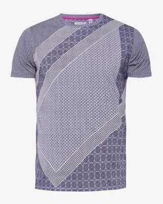 T-shirt en coton à imprimé géométrique