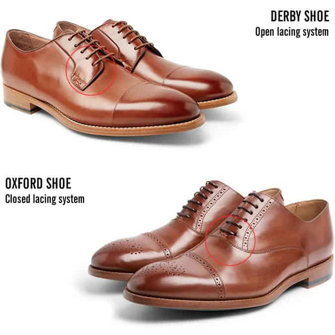 La différence entre les chaussures Derby et les chaussures Oxford