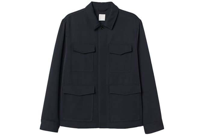 Veste-chemise en laine mélangée H&M
