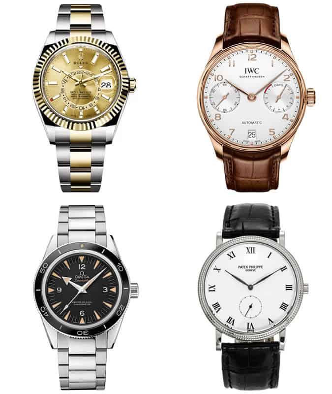 Les meilleures montres de luxe pour hommes d'héritage