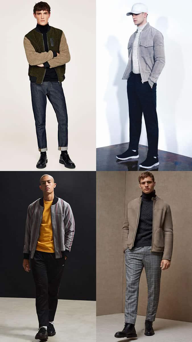 styles de veste bomber chaud pour hommes