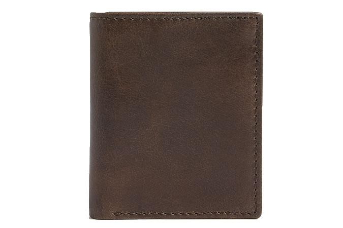 M&S COLLECTION Nouveau portefeuille en cuir à trois volets