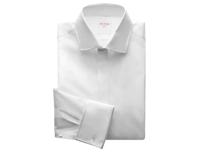 Chemise habillée rose Thomas