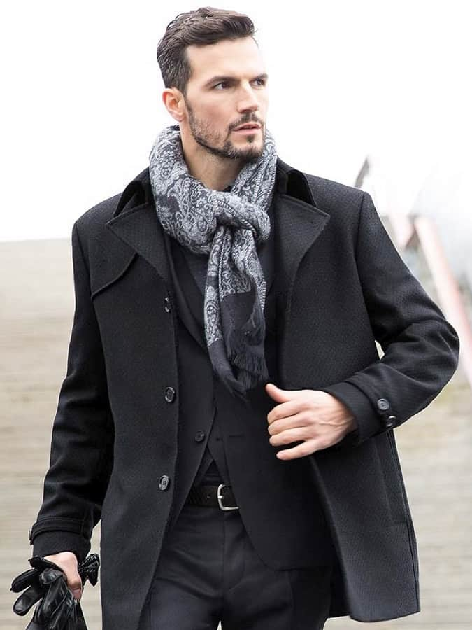 How To Wear A Scarf For Men - The Parisian Knot
