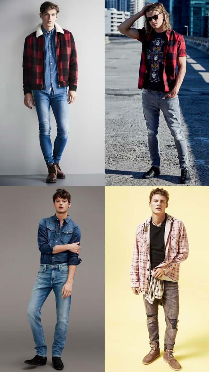 Vêtements pour hommes à thème américain - Comment porter un double denim, des vêtements de cow-boy et du grunge pour homme