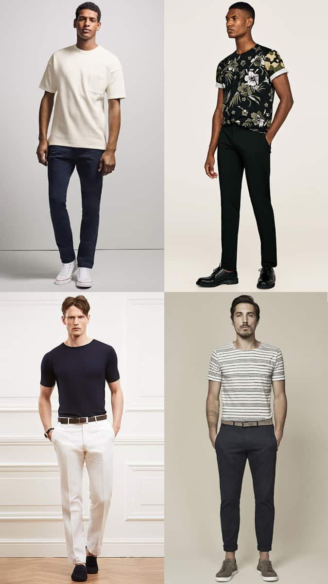 Comment porter des t-shirts unis et imprimés pour hommes
