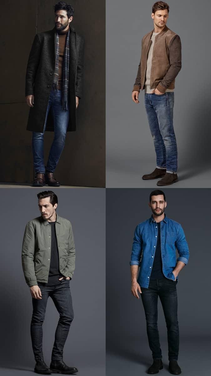 Jeans bien ajustés pour hommes
